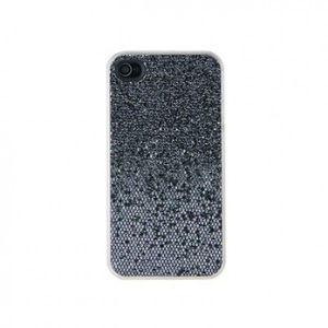SALE! Glittery plastic case for iPhone 4S (black)
