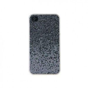 SALE! Glittery plastic case for iPhone 4S (black)