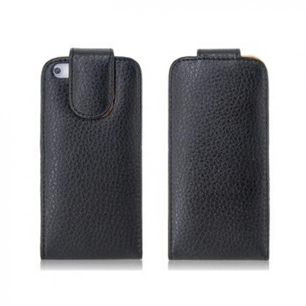 Защитный чехол для iPhone 5 на магнитной застежке (черный)