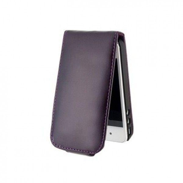 Кожаный защитный чехол для iPhone 5 (черный)