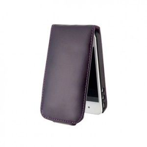 SALE! Leather protective case for iPhone 5 (black)