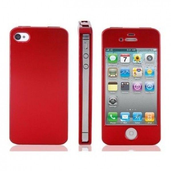 РАСПРОДАЖА! Plastic Flip Case for iPhone 4/ 4S (Red)