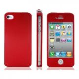 РАСПРОДАЖА! Plastic Flip Case for iPhone 4/ 4S (Red)