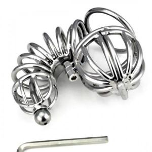 The Fully Locked Asylum Chastity Device - Seven Layers Cage