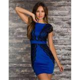 Клубное платье синего цвета по оптовой цене