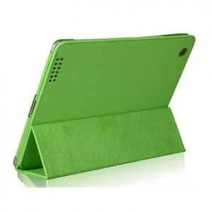 SALE! Leather protective case for New iPad (green)