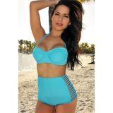 Голубой купальный костюм по оптовой цене