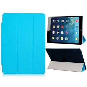 РАСПРОДАЖА! Faux Leather Tri-folded Magnetic Protective Cover with hinge for iPad Air (Blue). Артикул: IXI25787