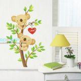 РАСПРОДАЖА! Виниловая наклейка - Влюбленные мишки на дереве по оптовой цене