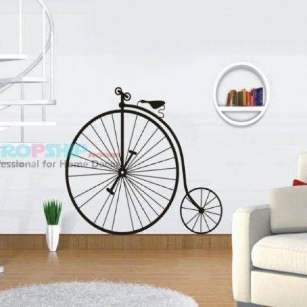 Виниловая наклейка - Старинный велосипед