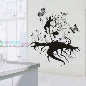 РАСПРОДАЖА! Виниловая наклейка - Девушка с корнями - Интерьер, декор