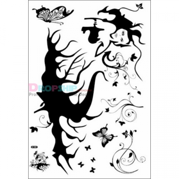 SALE! Vinyl sticker - the girl with the roots. Артикул: IXI25913