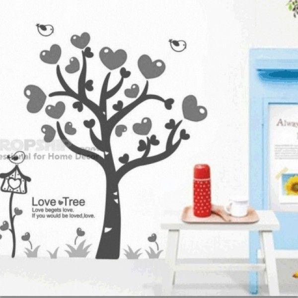 РАСПРОДАЖА! Виниловая наклейка - Дерево с сердечками