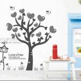 РАСПРОДАЖА! Виниловая наклейка - Дерево с сердечками по оптовой цене