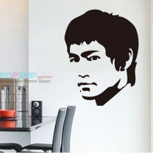 SALE! Vinyl sticker - Portrait of Bruce Lee