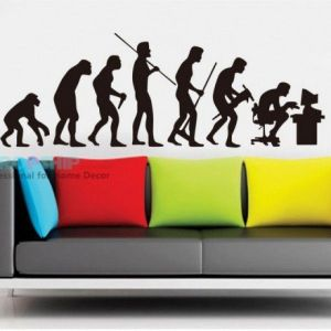РАСПРОДАЖА! Виниловая наклейка - Эволюция человека - Интерьер, декор