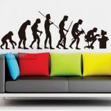 РАСПРОДАЖА! Виниловая наклейка - Эволюция человека по оптовой цене