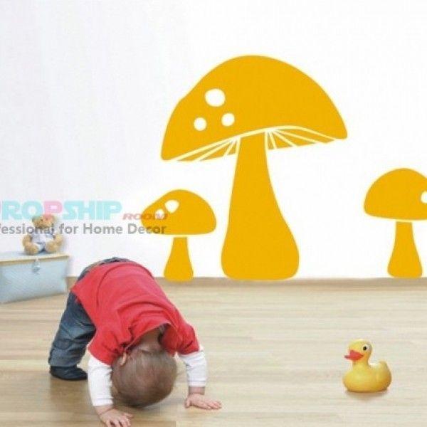 Виниловая наклейка - Оранжевые грибы