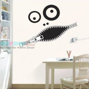 SALE! Vinyl decal - Physiognomy mouth shut