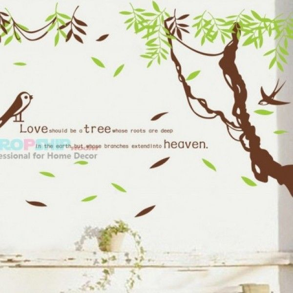 Виниловая наклейка - Птички в джунглях