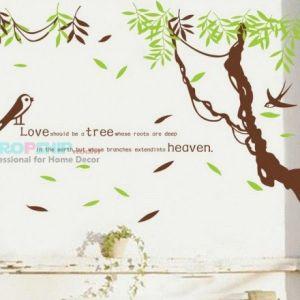 РАСПРОДАЖА! Виниловая наклейка - Птички в джунглях - Интерьер, декор