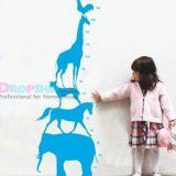 РАСПРОДАЖА! Виниловая наклейка - Ростовая линейка детская из животных по оптовой цене