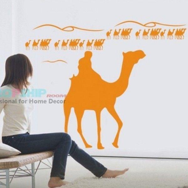 РАСПРОДАЖА! Виниловая наклейка - Оранжевые верблюды