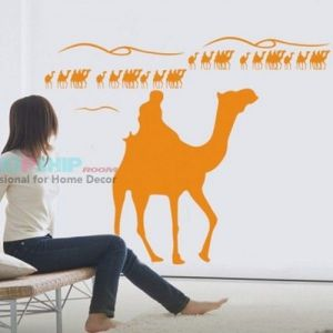 SALE! Vinyl sticker - Orange camels