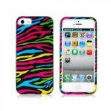 РАСПРОДАЖА! Чехол разноцветная зебра для iPhone 5 по оптовой цене