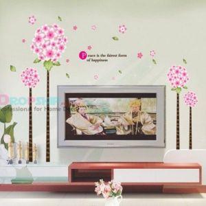 SALE! Vinyl decal - Pink flowers. Артикул: IXI25986