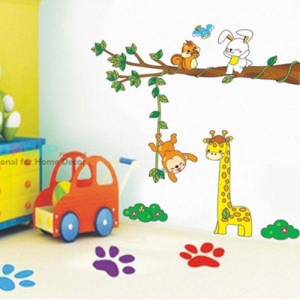 Виниловая наклейка - Детские животные