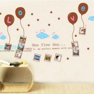 РАСПРОДАЖА! Виниловая наклейка - Рамочки под фото, с шариками Love - Интерьер, декор