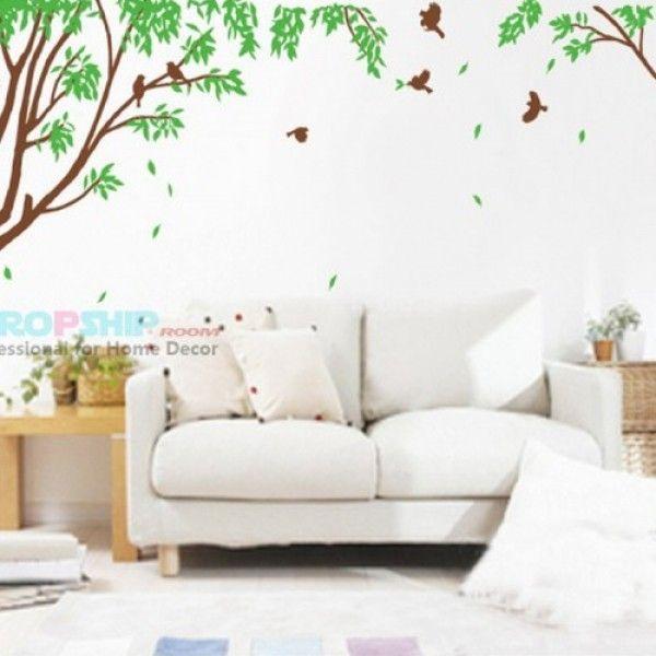 Виниловая наклейка - Дерево с листьями