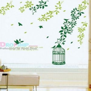 SALE! Vinyl sticker - the Leaves and green square