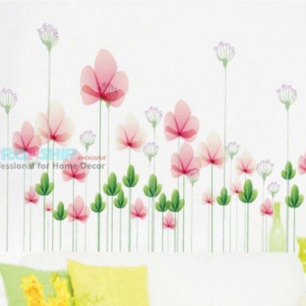Виниловая наклейка - Цветы
