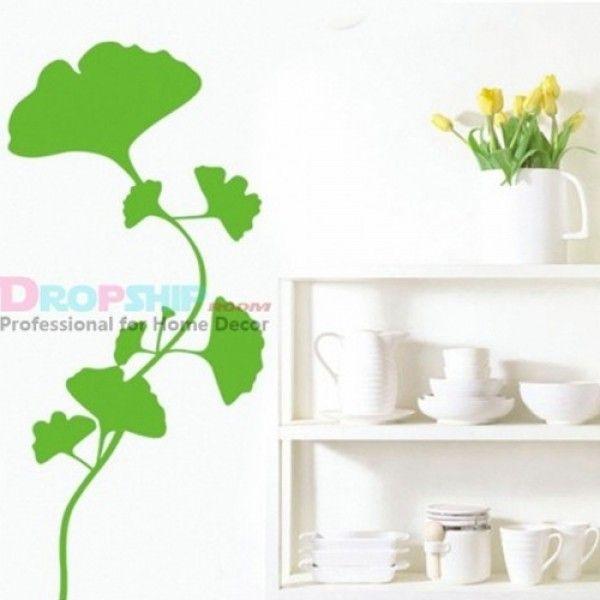 Виниловая наклейка - Зеленые листья