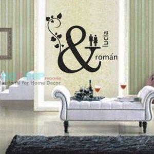 РАСПРОДАЖА! Виниловая наклейка - Lucia & Roman - Интерьер, декор