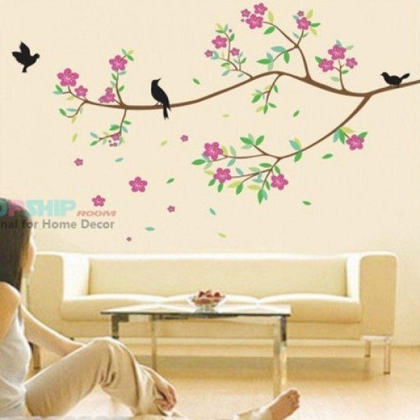 Виниловая наклейка - Милая ветка дерева