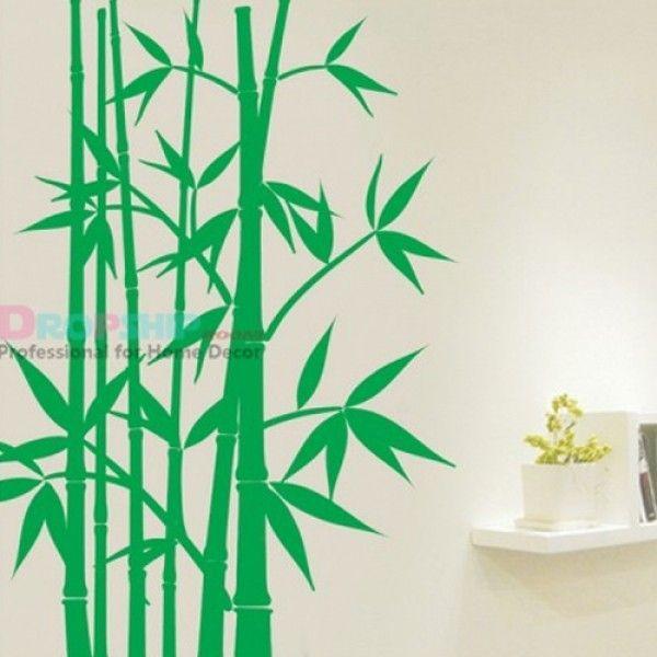 Виниловая наклейка - Зеленый бамбук
