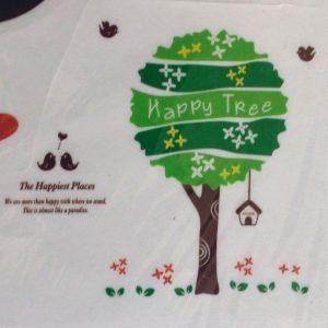 РАСПРОДАЖА! Виниловая наклейка - Happy tree - Интерьер, декор