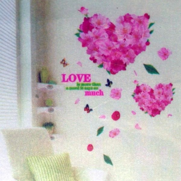 РАСПРОДАЖА! Виниловая наклейка - Цветочные сердца