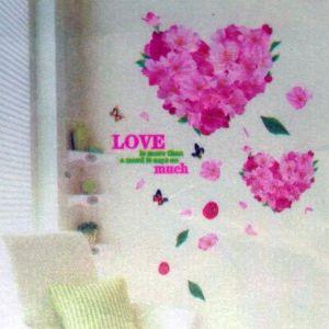 РАСПРОДАЖА! Виниловая наклейка - Цветочные сердца - Интерьер, декор