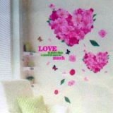 РАСПРОДАЖА! Виниловая наклейка - Цветочные сердца по оптовой цене