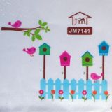SALE! Vinyl decal - Fence and birdhouses