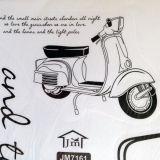 РАСПРОДАЖА! Виниловая наклейка - Скутер и надпись по оптовой цене