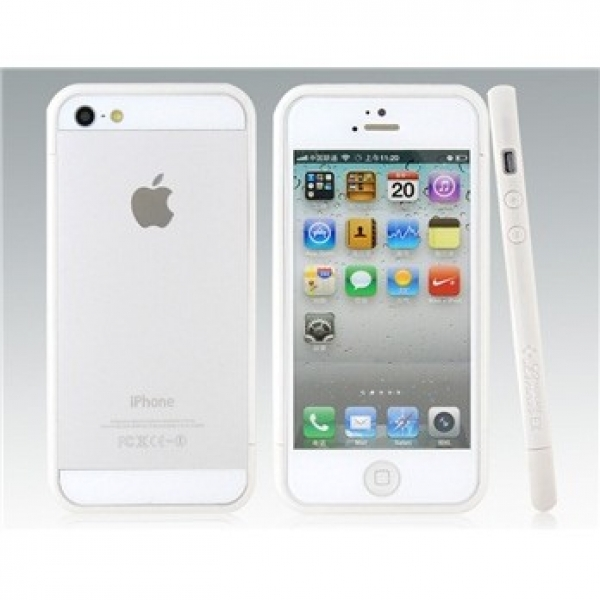 Plastic Frame Bumper for iPhone 5 (White)