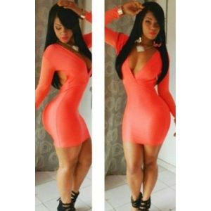 Club orange dress. Артикул: IXI26089