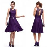Dress with cutout at back purple