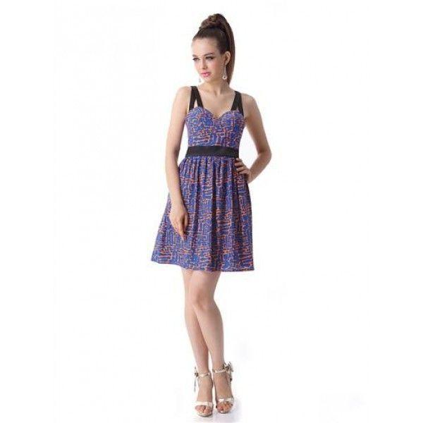Очаровательное платье со стильным принтом