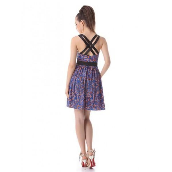 Charming dress with a stylish print. Артикул: IXI26516